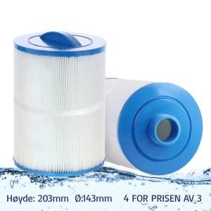 Bilde av Spafilter 50 sq. ft. fingjenget, vaskbart (4pk - spar 25%!)